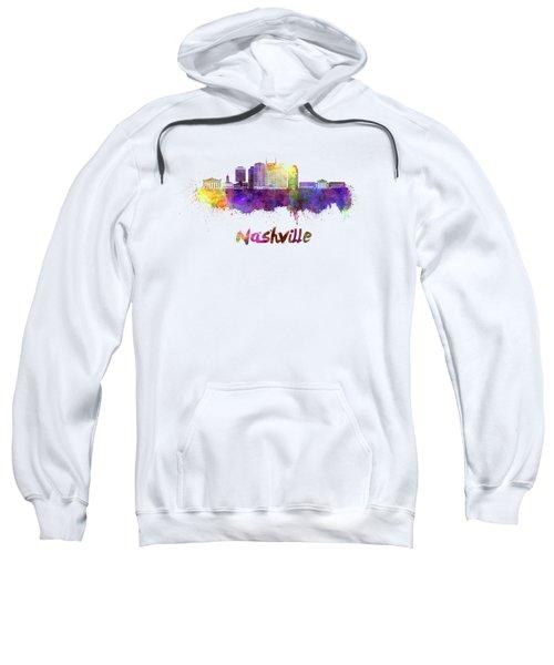 Nashville Skyline In Watercolor Sweatshirt