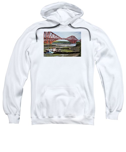 Sweatshirt featuring the photograph North Queensferry by Jeremy Lavender Photography
