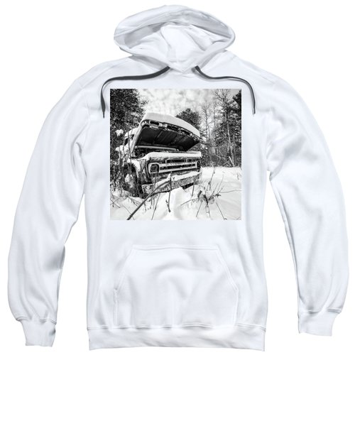 Old Abandoned Pickup Truck In The Snow Sweatshirt