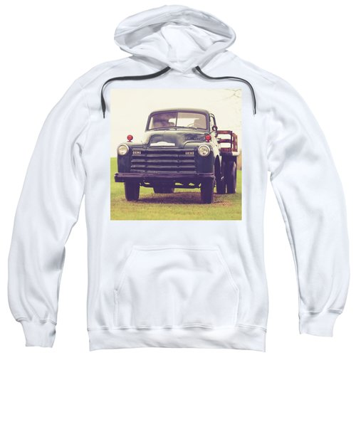 Old Chevy Farm Truck In Vermont Square Sweatshirt
