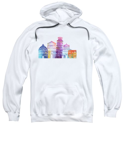 Barcelona Landmarks Watercolor Poster Sweatshirt