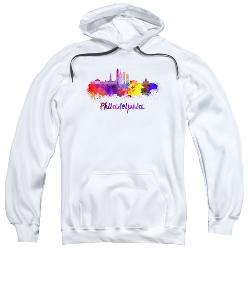 Philadelphia Skyline In Watercolor Sweatshirt