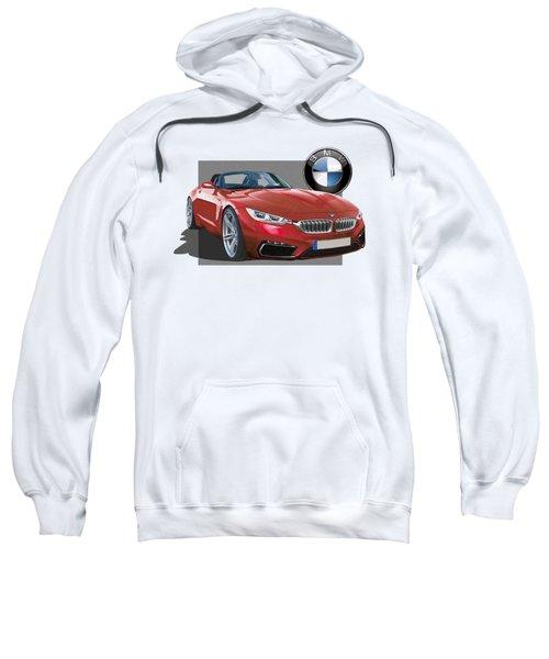 Red 2018 B M W  Z 5 With 3 D Badge  Sweatshirt by Serge Averbukh