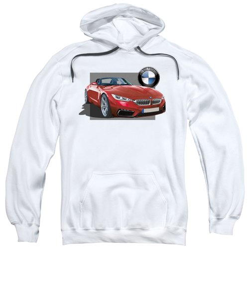 Red 2018 B M W  Z 5 With 3 D Badge  Sweatshirt