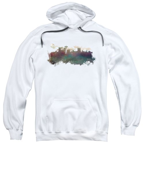 Seattle Washington Skyline Sweatshirt by Justyna JBJart