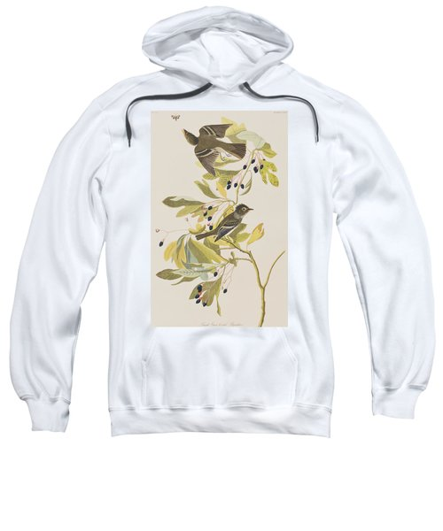 Small Green Crested Flycatcher Sweatshirt by John James Audubon