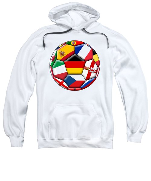 Soccer Ball With Flag Of German In The Center Sweatshirt