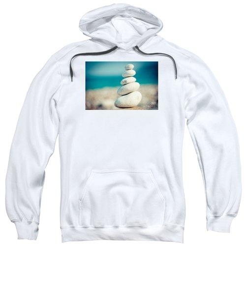 Stupa At Sea Coast Seascape Buddha Sweatshirt