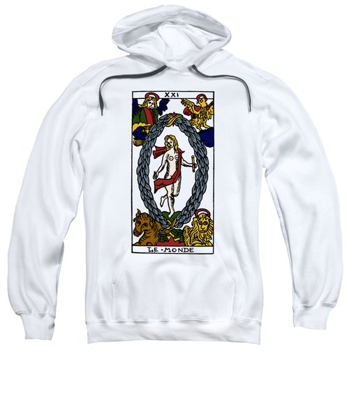 Tarot Card The World Sweatshirt