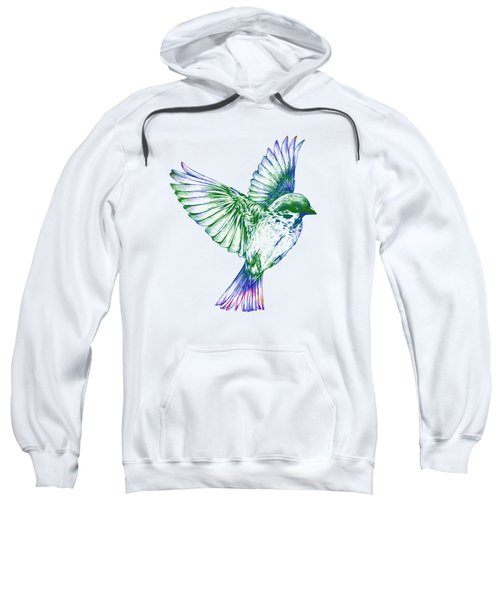 Textured Bird With Changeable Background Color Sweatshirt by Sebastien Coell