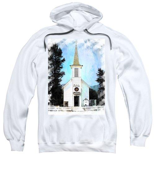 The Little White Church In Elbe Sweatshirt