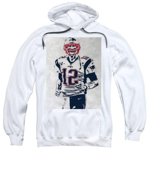 Tom Brady New England Patriots Pixel Art 5 Sweatshirt