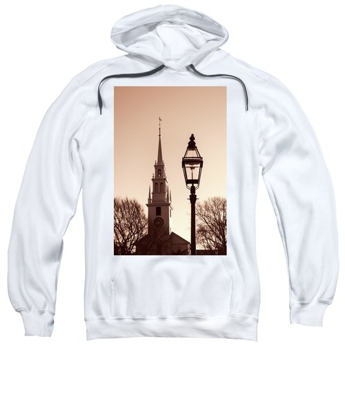 Trinity Church Newport With Lamp Sweatshirt