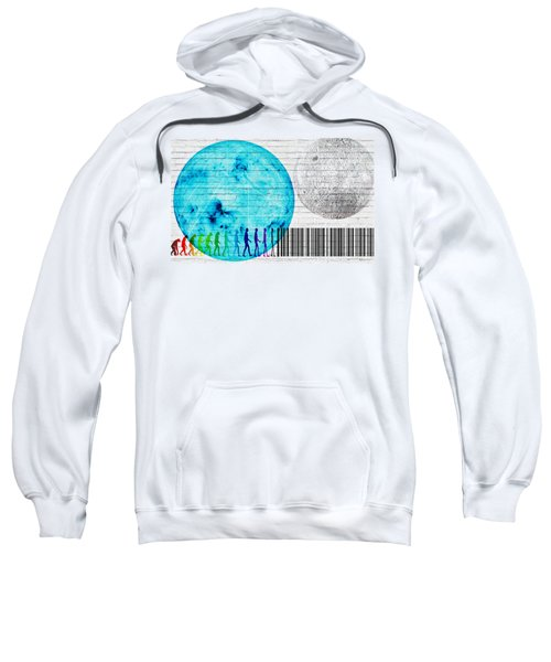 Urban Graffiti - Binary Evolution Sweatshirt by Serge Averbukh
