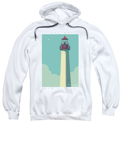 Cape May Poster - Vintage Travel Lighthouse  Sweatshirt