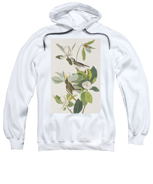 Warbling Flycatcher Sweatshirt by John James Audubon