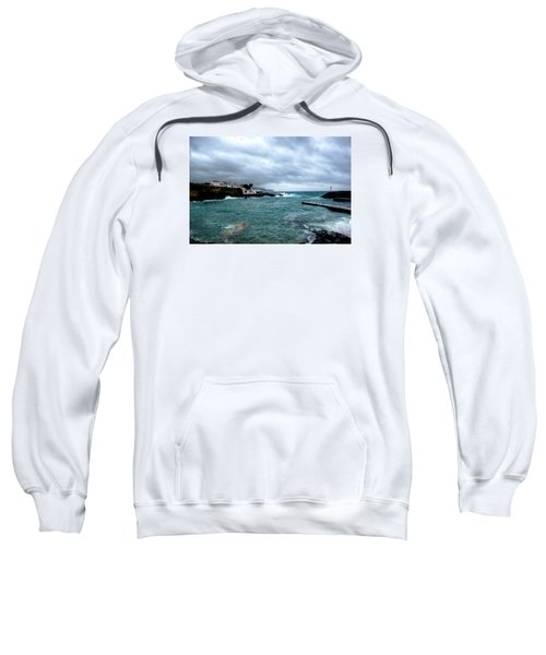 Sweatshirt featuring the photograph Waves-71 by Joseph Amaral