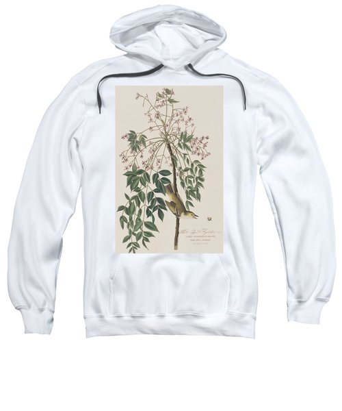 White-eyed Flycatcher Sweatshirt by John James Audubon
