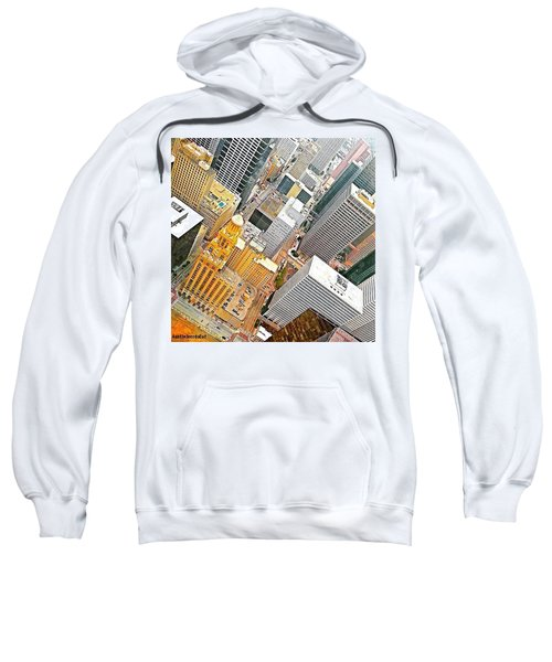 Yesterday's #birdseyeview Of #downtown Sweatshirt