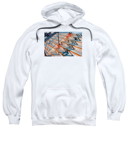 Zig Zag Shadows On Train Station Steps Sweatshirt