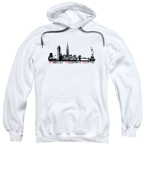 New York City Skyline  Sweatshirt by Justyna JBJart