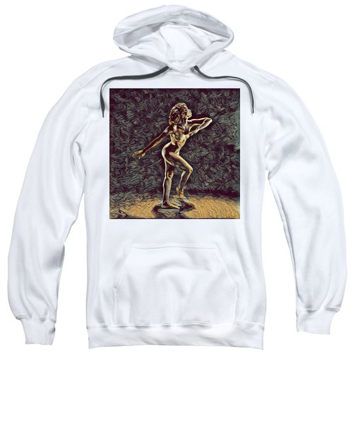 Sweatshirt featuring the digital art 1192s-zac Nudes In The Style Of Antonio Bravo  by Chris Maher