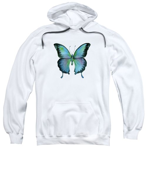 12 Blue Emperor Butterfly Sweatshirt
