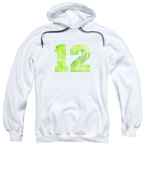 12th Man Seahawks Art Go Hawks Sweatshirt
