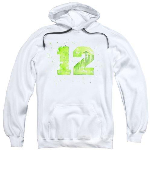 12th Man Seahawks Art Go Hawks Sweatshirt