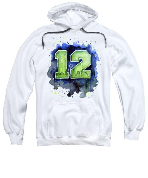 12th Man Seahawks Art Seattle Go Hawks Sweatshirt