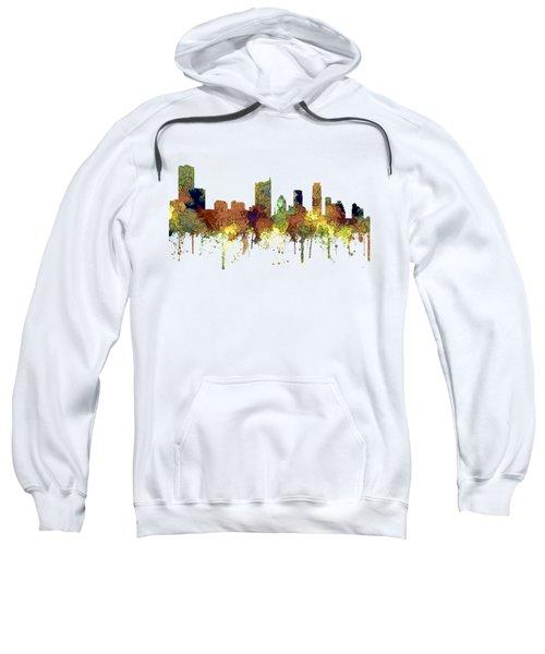 Austin Texas Skyline Sweatshirt by Marlene Watson