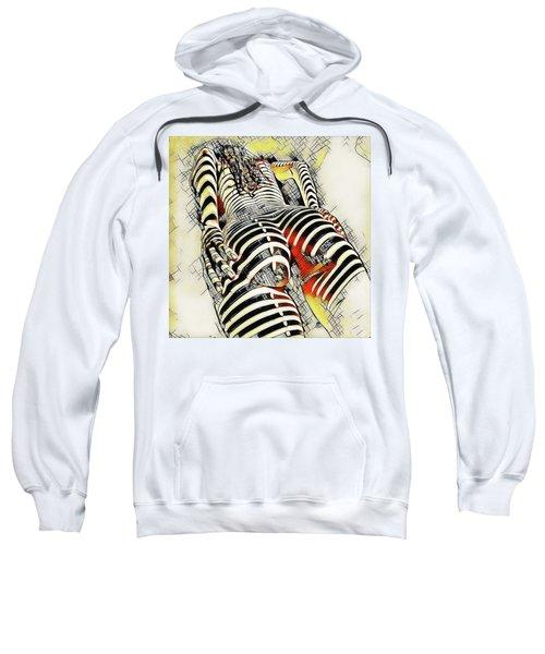 1457s-ak Rear View Nude Erotica In The Style Of Kandinsky Sweatshirt