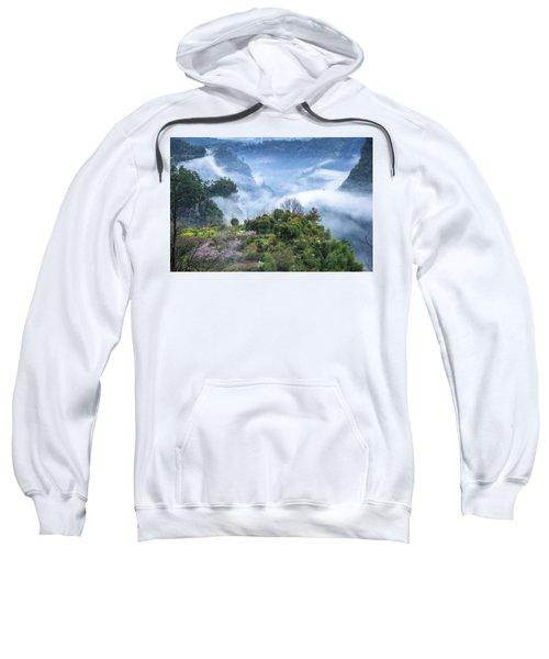 Mountains Scenery In The Mist Sweatshirt