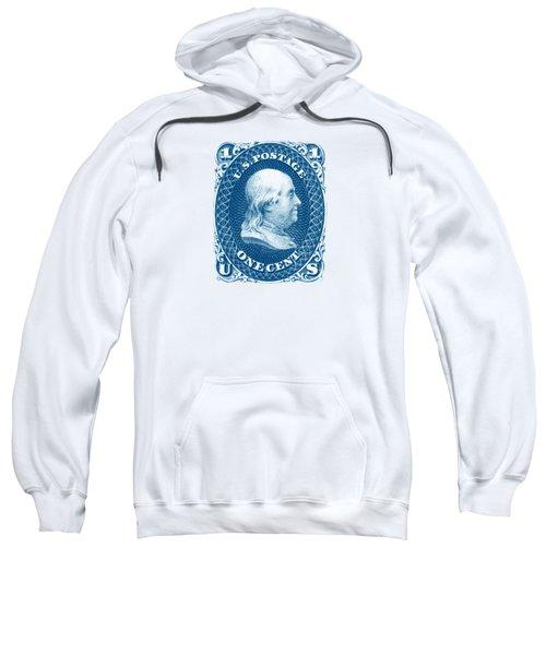 1861 Benjamin Franklin Stamp Sweatshirt by Historic Image