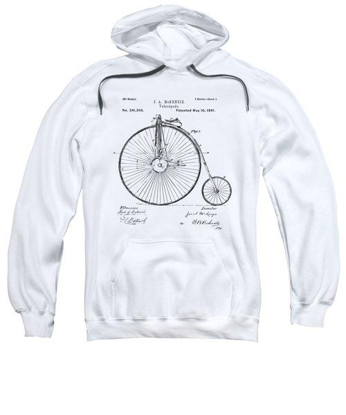 1881 Velocipede Bicycle Patent Artwork - Vintage Sweatshirt