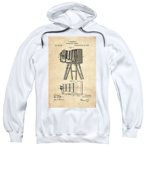 1885 Camera Us Patent Invention Drawing - Vintage Tan Sweatshirt