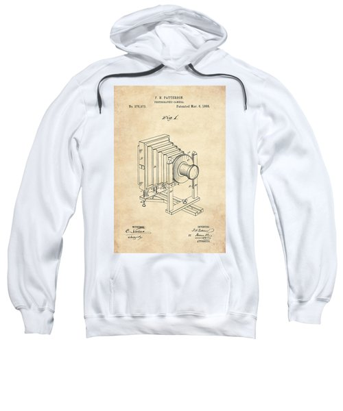 1888 Camera Us Patent Invention Drawing - Vintage Tan Sweatshirt