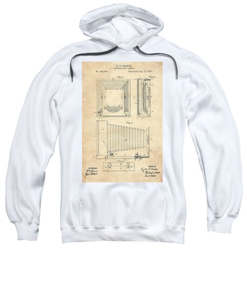 1891 Camera Us Patent Invention Drawing - Vintage Tan Sweatshirt