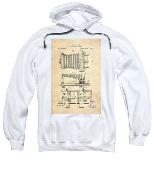 1897 Camera Us Patent Invention Drawing - Vintage Tan Sweatshirt