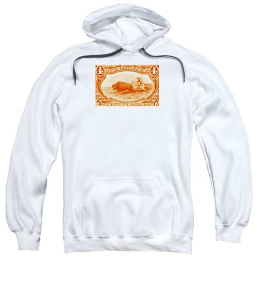 1898 Indian Hunting Buffalo Sweatshirt by Historic Image