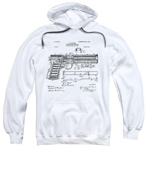 1903 Mcclean Pistol Patent Artwork - Vintage Sweatshirt