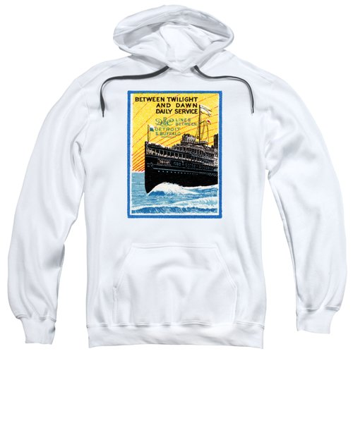 1910 Detroit To Buffalo Steamship Sweatshirt