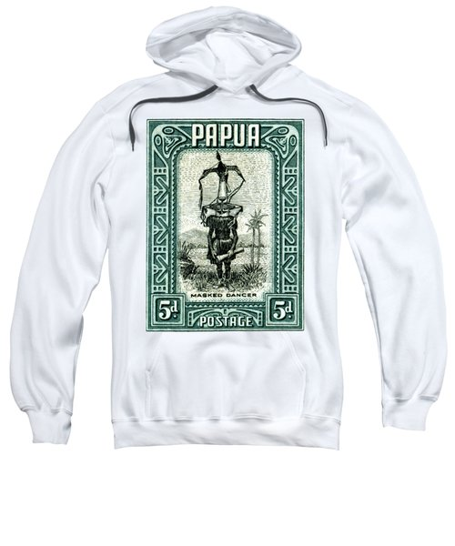 1932 Papua Masked Dancer Stamp Sweatshirt