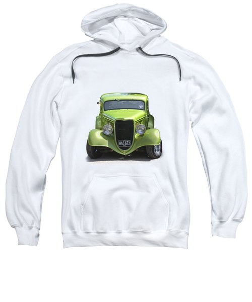 1934 Ford Street Hot Rod On A Transparent Background Sweatshirt by Terri Waters