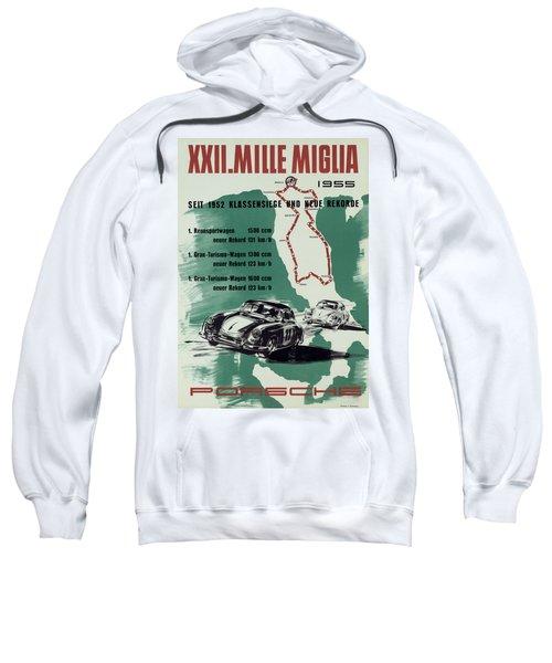 1955 Mille Miglia Porsche Poster Sweatshirt