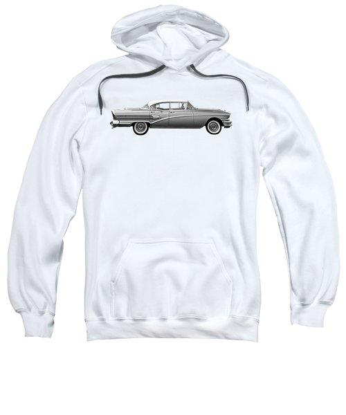 1958 Buick Roadmaster 75 In Black And White Sweatshirt
