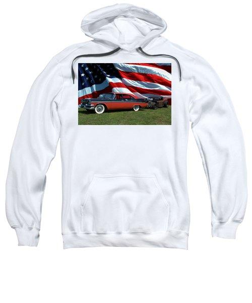 1958 Dodge Coronet And 1935 International Dragster Sweatshirt