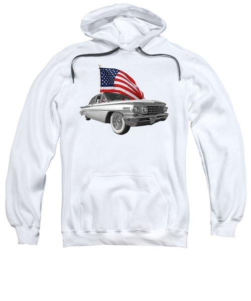 1960 Oldsmobile With Us Flag Sweatshirt