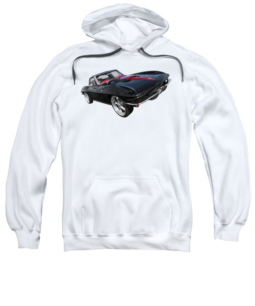 1963 Corvette Stingray Split Window In Black And Red Sweatshirt