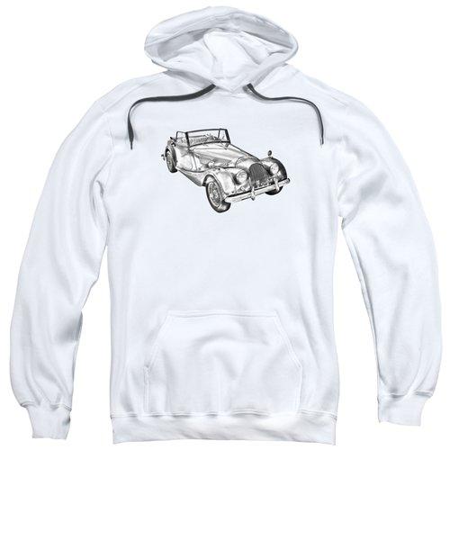 1964 Morgan Plus 4 Convertible Sports Car Illustration Sweatshirt